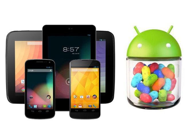 Galaxy Nexus, Nexus 4, Nexus 7 y Nexus 10