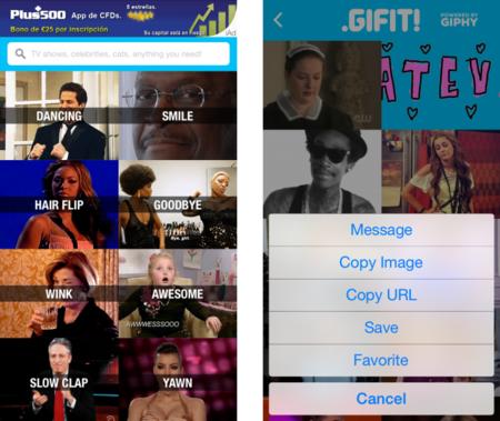 Gifit, un repositorio de 40.000 GIFs animados en tu iPhone
