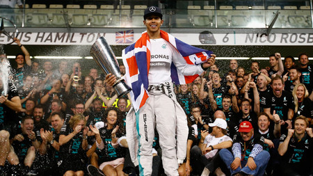 Lewis Hamilton Celebrates World Championship 3232986