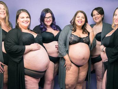 """""""Plus-Size, Pregnant & Proud"""", el proyecto que busca visibilizar a las embarazadas de tallas grandes"""
