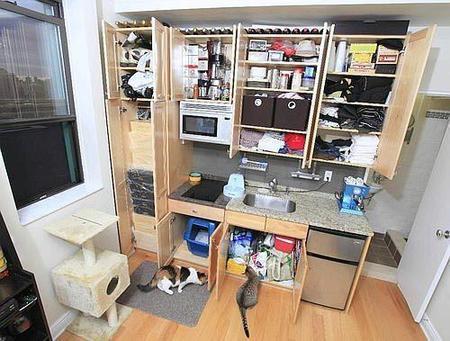 Un apartamento de 16 metros cuadrados - Como sacar los metros cuadrados de una habitacion ...