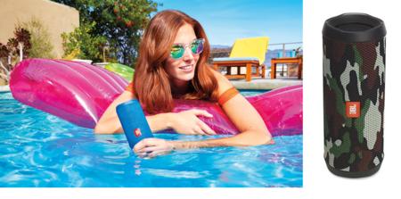 Oferta en altavoces de Amazon: por 82,45 euros tenemos el altavoz JBL Flip 4 en camuflaje, ideal para playas y piscinas