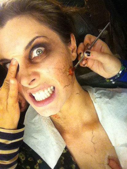 maquillaje de zombie de Pilar Rubio 3