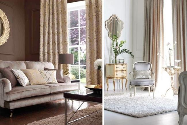 Inspiración barroca y tonos dorado y plateado en muebles y ...