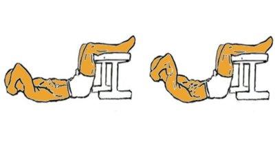Guía para principiantes (LII): Encogimientos abdominales con pies apoyados en banco