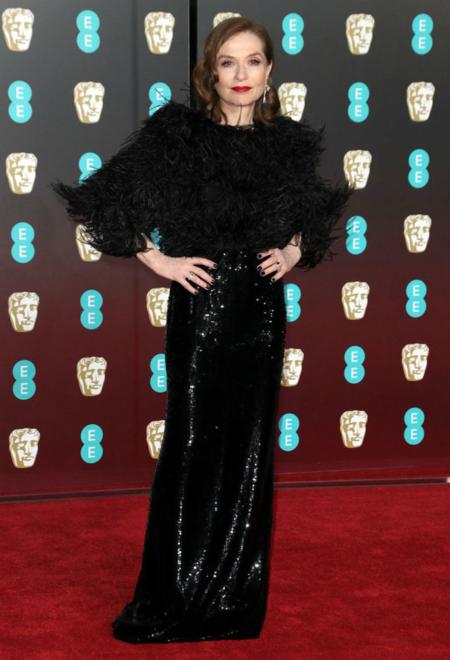 Isabelle Huppert vuelve a demostrar que es una de las más elegantes en los BAFTA 2018