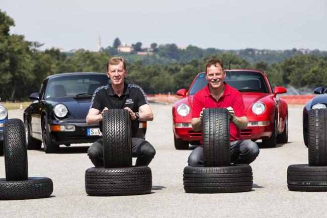 Porsche ofrece para sus clásicos neumáticos Pirelli modernos con aspecto retro