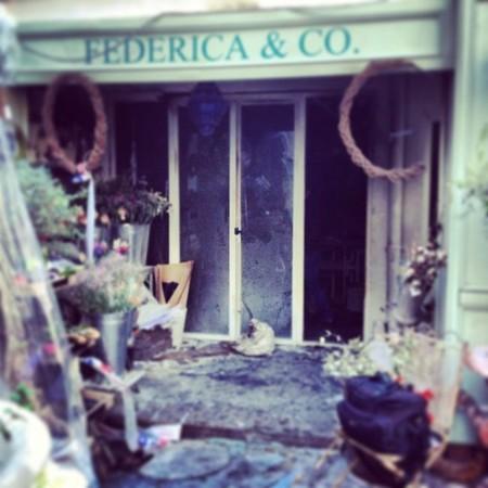 Un incendio arrasa la tienda Federica & Co