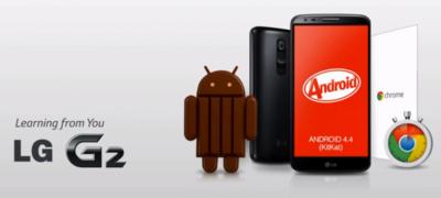 Disponible actualización de Android 4.4.2 a los LG G2 de Telcel