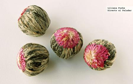 Flores de té secas