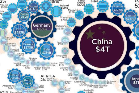 Quién fabrica el mundo: los países con mayor producción industrial, reunidos en un mapa