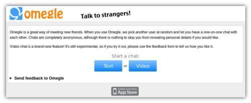 Omegle,unChatrouletteenversióntexto,vídeoyiPhone