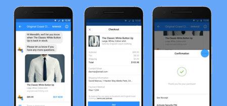 Chatear y pagar sin salir de Facebook Messenger: los bots soportarán pagos integrados