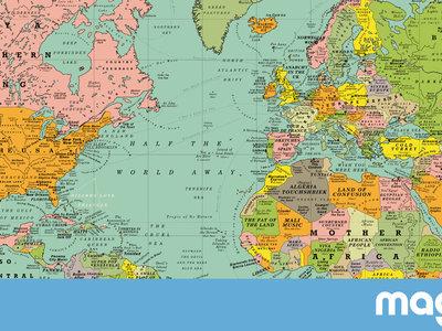 Todos los países y ciudades de este mapamundi son canciones pop. Y es divertidísimo