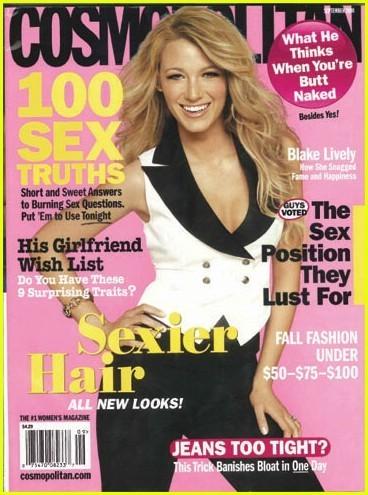 Blake Lively en la portada de Septiembre de Cosmopolitan