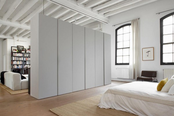 Separación dormitorio salón
