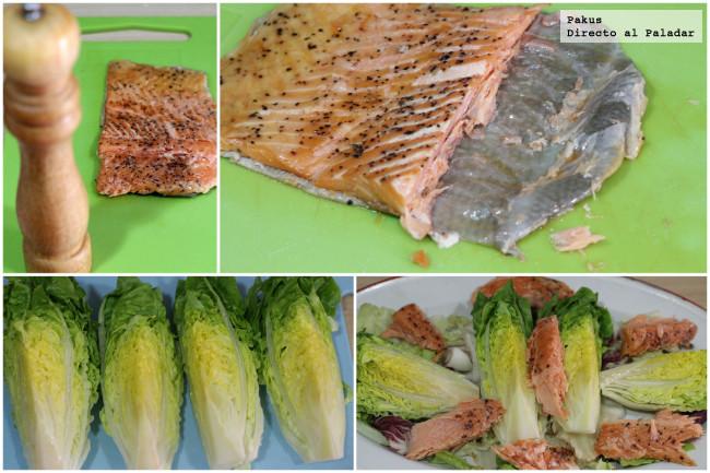 Ensalda Salmon Ahumado Crotons Y Salsa De Queso