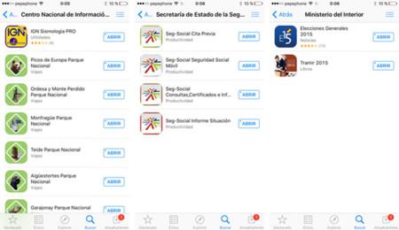 Apps clasificadas por desarrollador