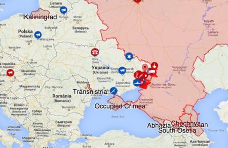 mapa crimea rusia ucrania