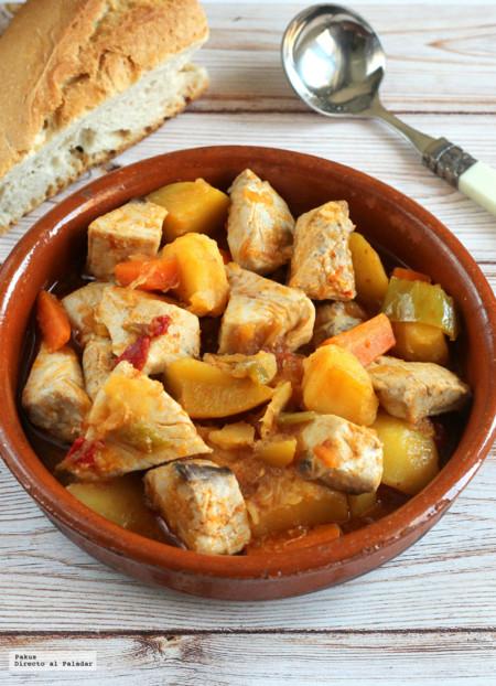 Receta de marmitako de bonito cocinado a fuego lento