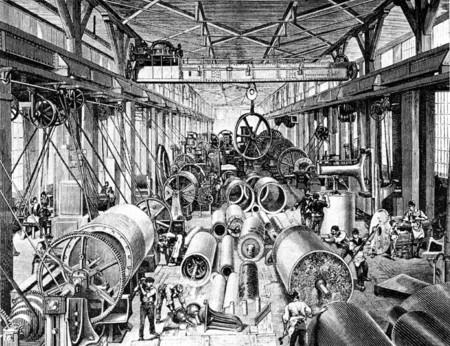 Bild Maschinenhalle Escher Wyss 1875