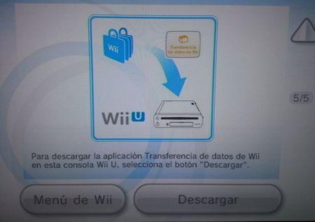 Transferencia de datos de Wii