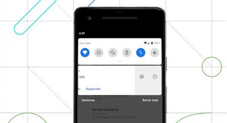 """En Android Q Beta 4 vuelve """"posponer notificaciones"""" y se pueden descartar deslizando hacia cualquier lado"""