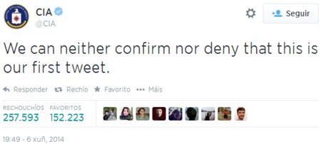 Primer tuit CIA