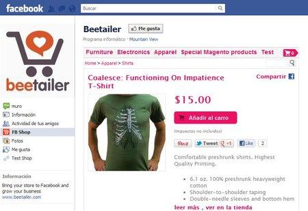Beetailer, construye tu tienda en Facebook de forma sencilla