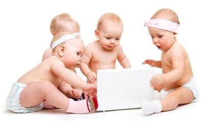 Imitando a los mayores, sus primeros gadgets