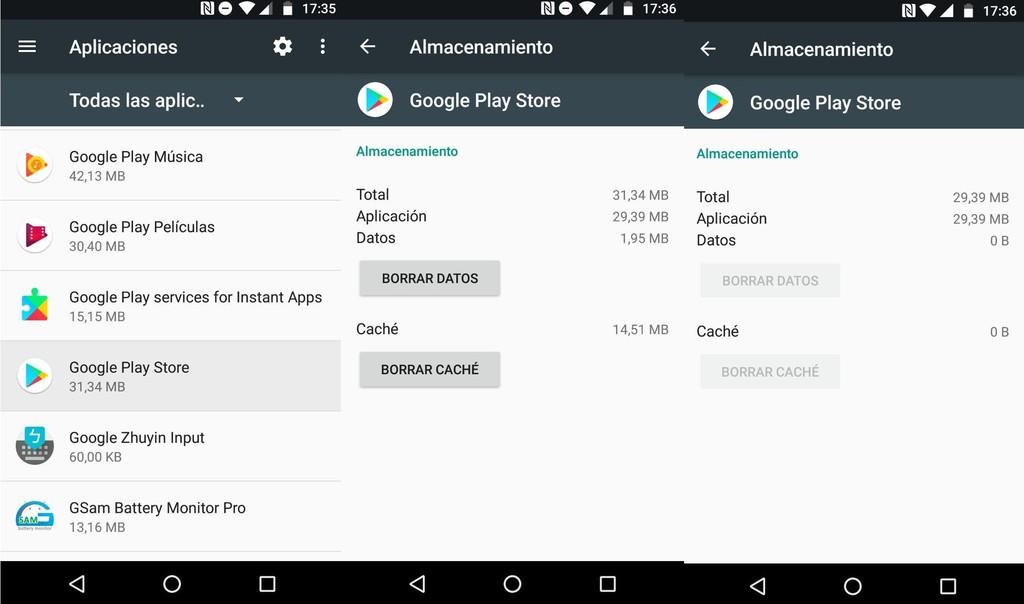 Eliminar Cache Y Datos Google® Play Error