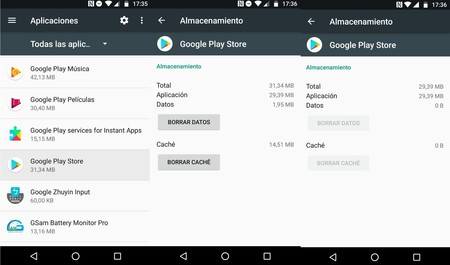 Eliminar Cache Y Datos Google Play Error