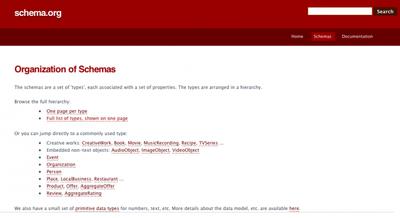Schema.org, microdatos para ayudar a los buscadores a indexar mejor los sitios web