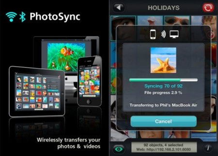 Photosync sincroniza por Wifi tus fotos con tu iPhone / iPad