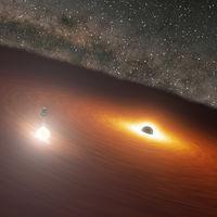Este enorme agujero negro es 34.000 millones de veces más masivo que el Sol y uno de los que más rápido crecen del Universo