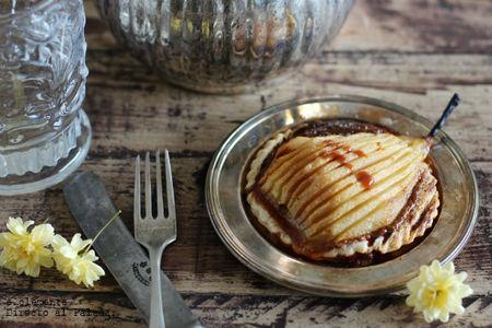 Tartaletas de pera con crema de toffee. Receta