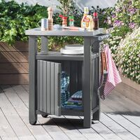 21 muebles auxiliares para una barbacoa perfecta en la terraza o en el jardín