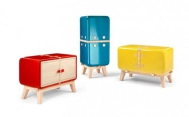 Divertidos muebles de almacenaje en cerámica de color
