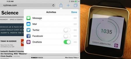OneNote avanza en su invasión a otras plataformas: ahora llega a los smartwatches Android y a iOS 8