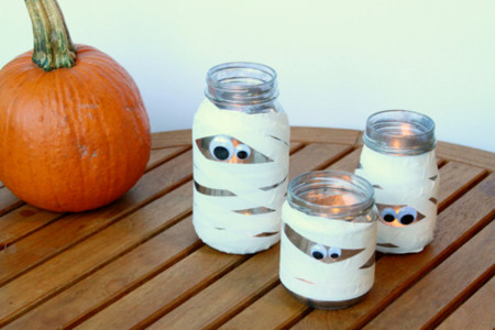 Warm Washi Mummy Lanterns Diy