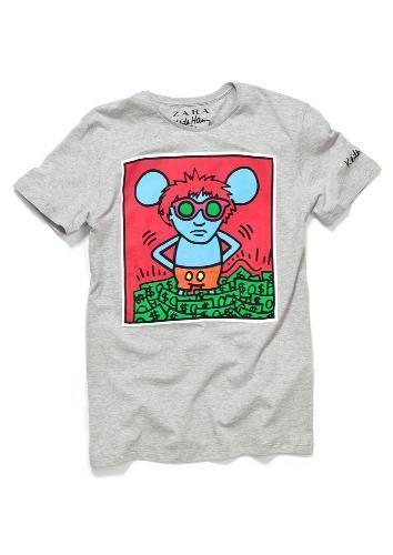 Zara vuelve a confiar en Keith Haring para sus nuevas camisetas. Gris