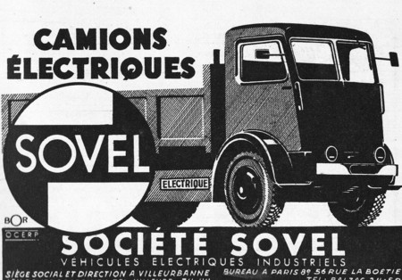 Sovel France Camion Electrique 1946