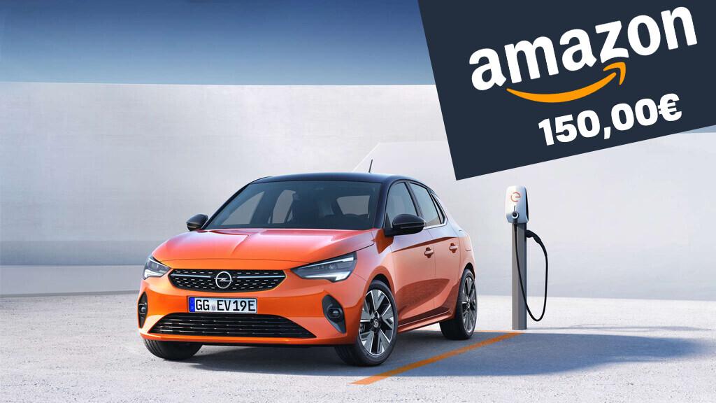 Participa y gana 150 euros para gastar en Amazon con Opel: solo tienes que enviarnos tus dudas sobre el Opel Corsa-e
