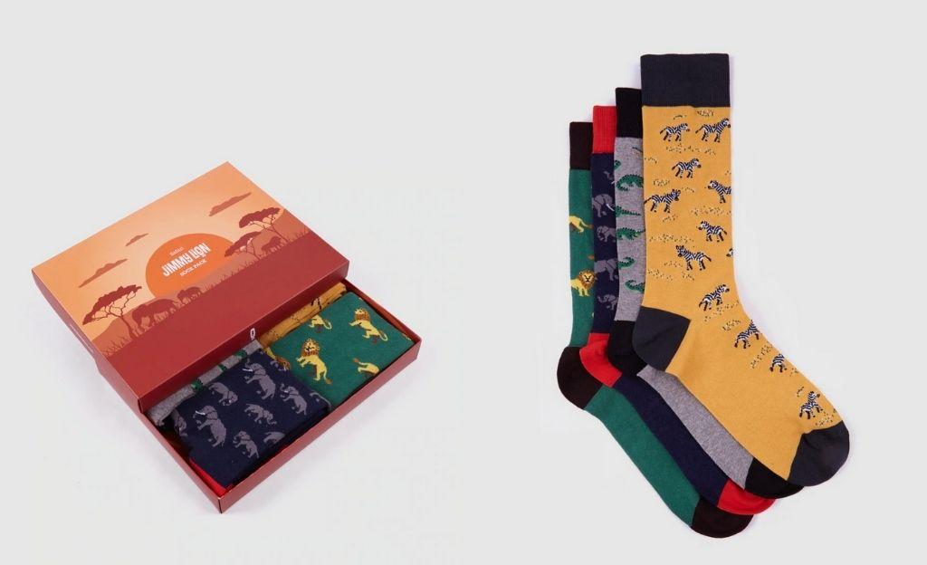 Pack de cuatro pares de calcetines de hombre Jimmy Lion varios colores