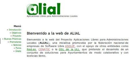Proyecto ALIAL, fomentando el software libre en las administraciones locales