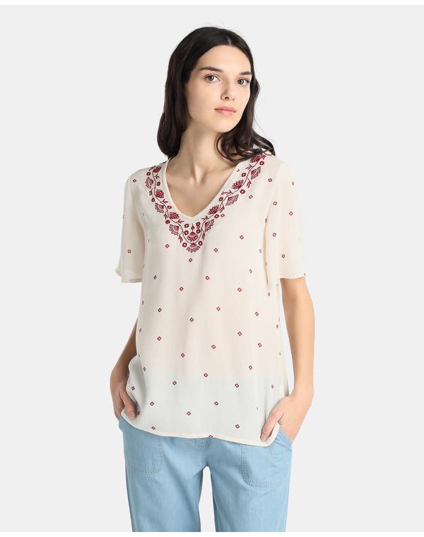 Blusas con bordados en moda UNIT