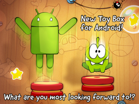 Cut the Rope recibe Toy Box con 25 nuevos niveles