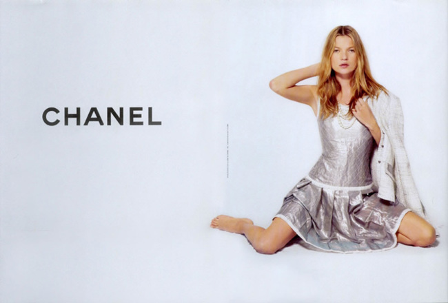 Kate Moss para Chanel 2004