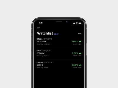 Coindex para iOS, la app con la que hacer un seguimiento de todas las monedas virtuales