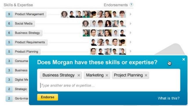 LinkedIn lanza los endorsements: nuestros contactos podrán avalar nuestras aptitudes